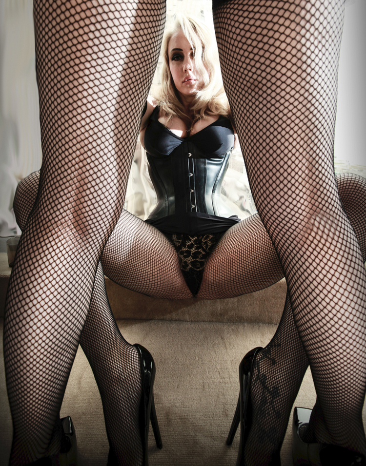 Double Trouble In Fishnets