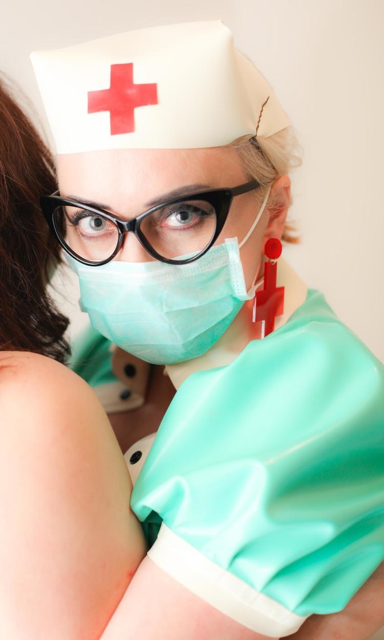 Latex Mask Kink Nurse