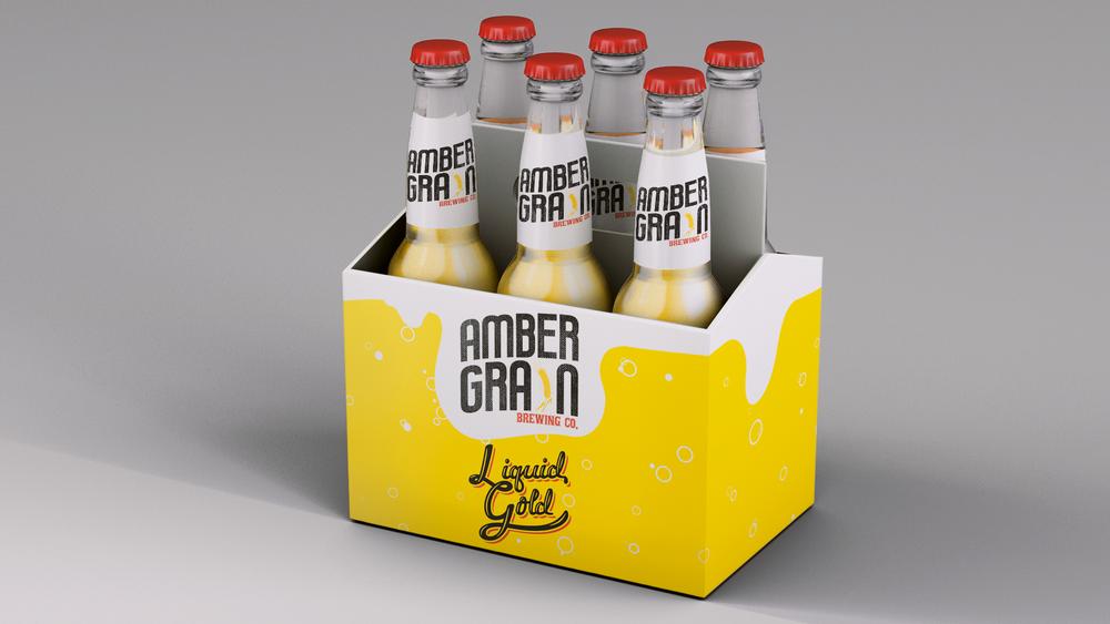 Liquid Gold beer mockup