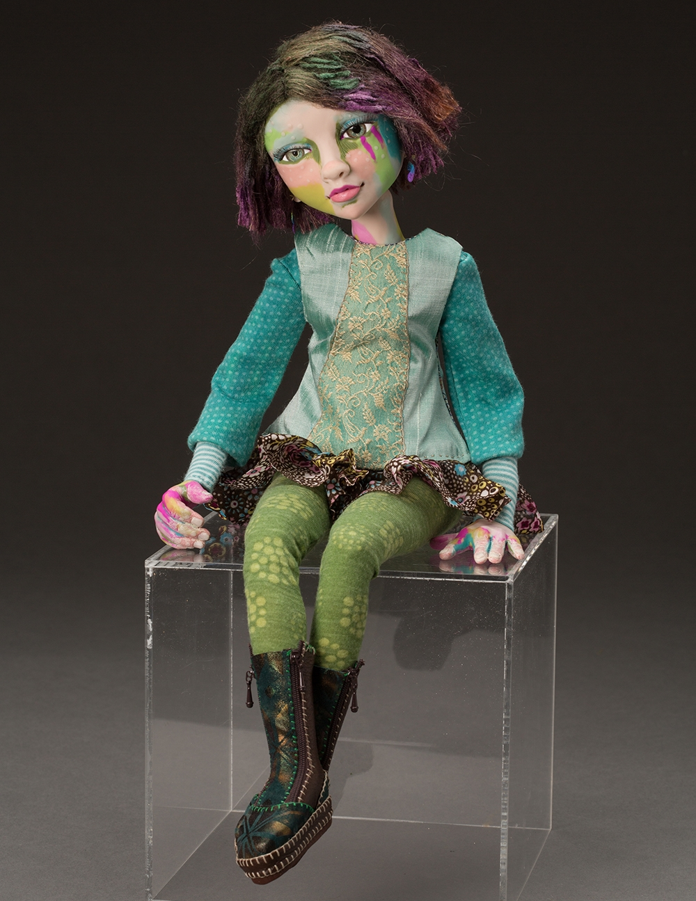 Artist; 14 inches; polymer clay; Photo by Dan KVITKA