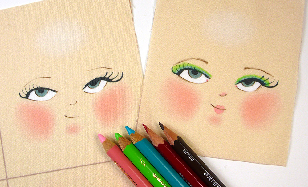 A few colored pencils give this face a whole new look