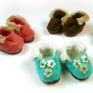 Tiny doll slippers