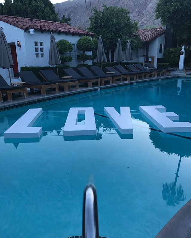 LOVE is in the pool at @Avalonhotelandbungalows