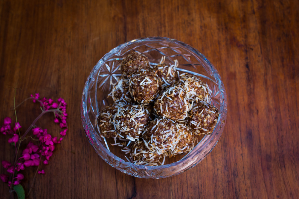 Signature Carob and Macadamia Bliss Balls