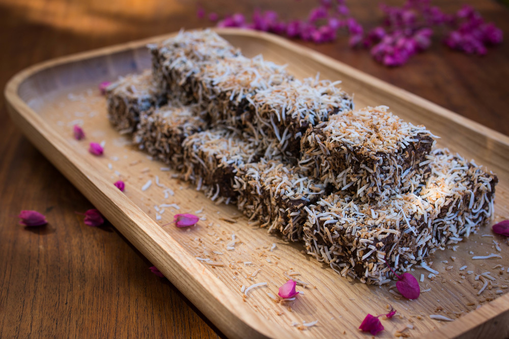 Toasted Coconut Lamingtons