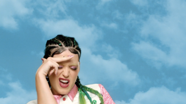 """Katy Perry wearing cornrows in her recent video, """"This Is How We Do"""""""