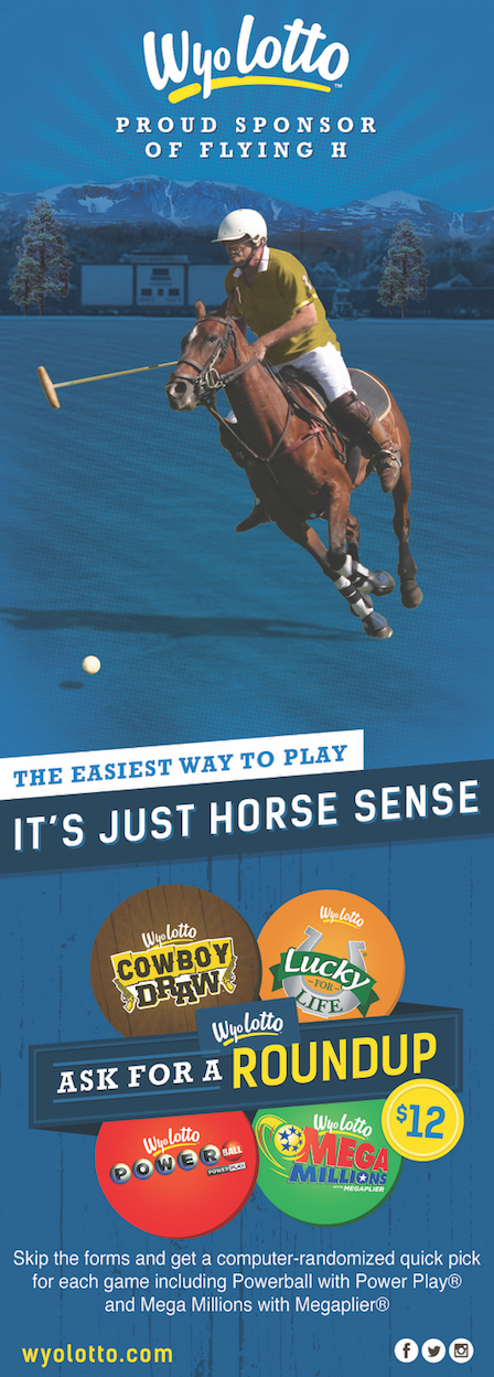 Game Promotion - This campaign appeared at a WyoLotto-sponsored off-track betting event in Wyoming. The goal? To encourage attendees to increase their chances of a big win by asking for a roundup when they play the lottery.The use of the term