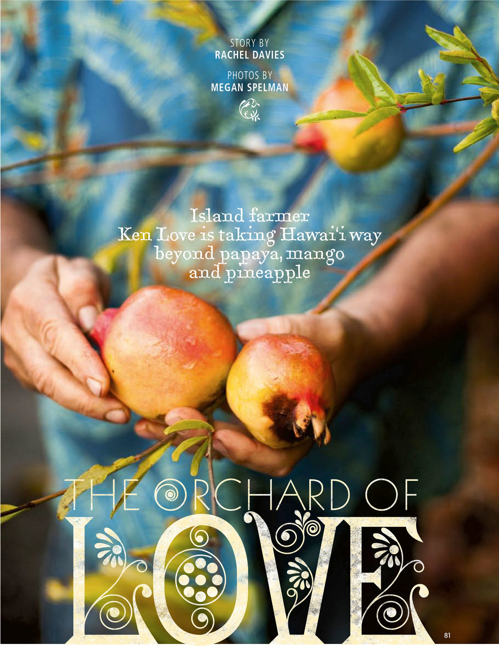 """Orchard of Love"" Hana Hou! Magazine ARTICLE"