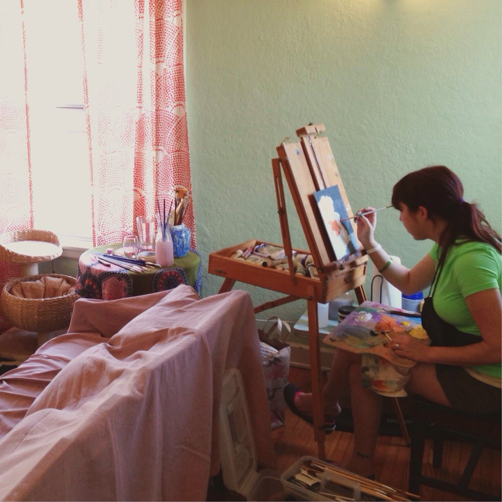 Heather painting, 2014.