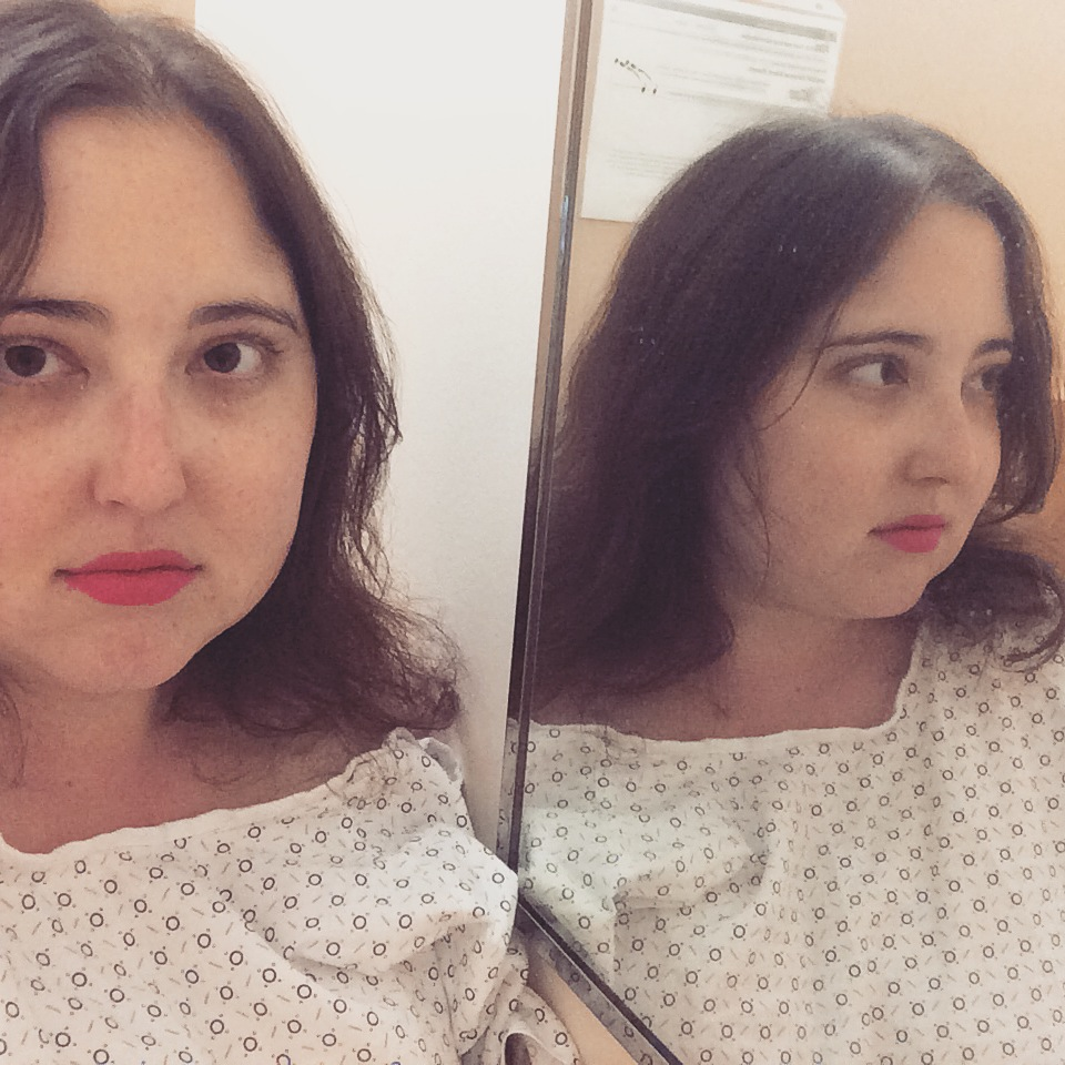 Selfie before getting an MRI.