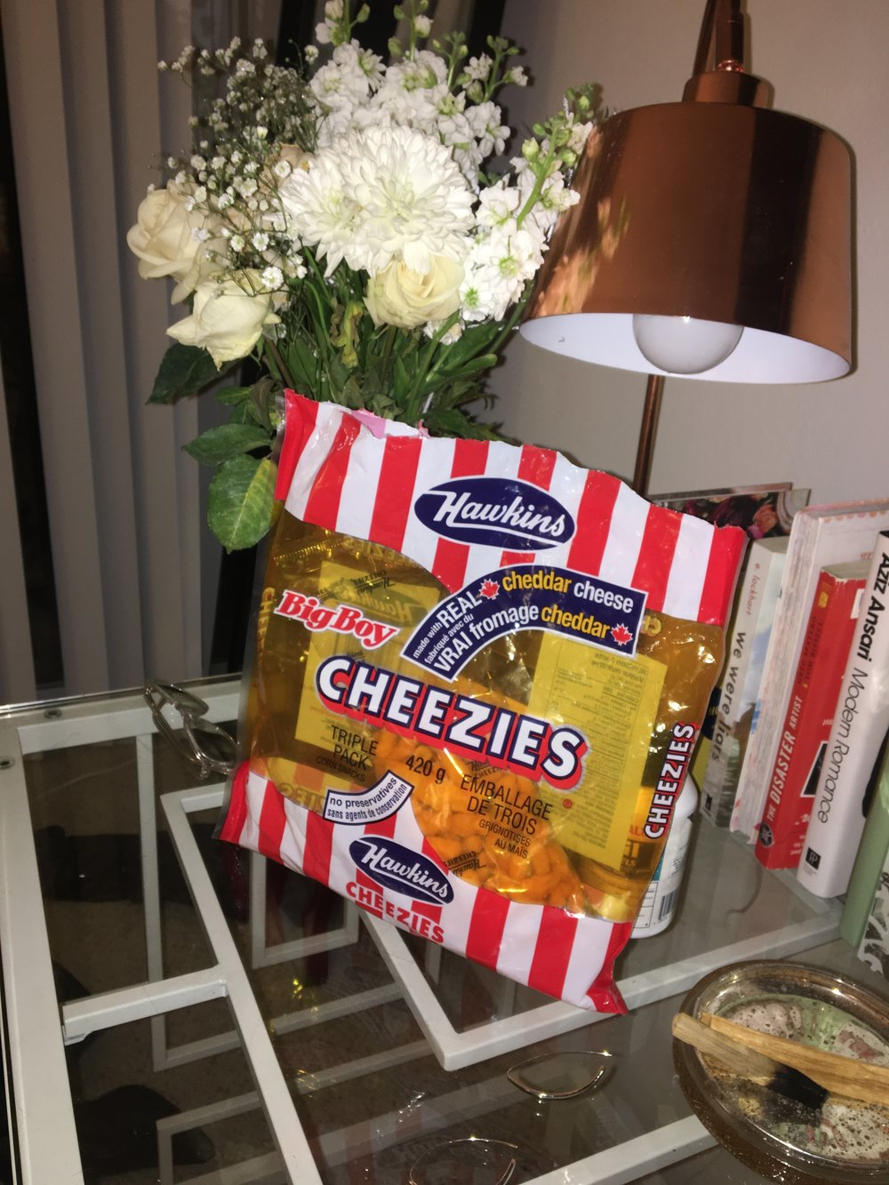 Hawkins Cheezies. A Canadian delicacy.