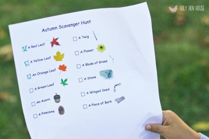 fall scavenger hunt 12-2
