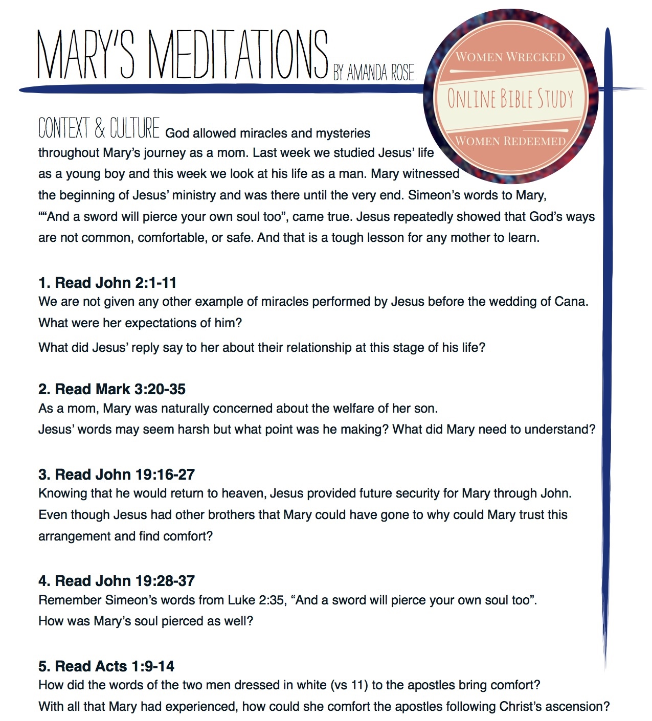 WWWR Marys Meditations
