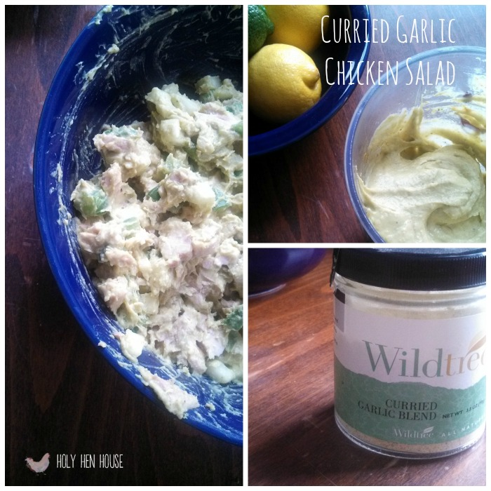 curried garlic chicken salad