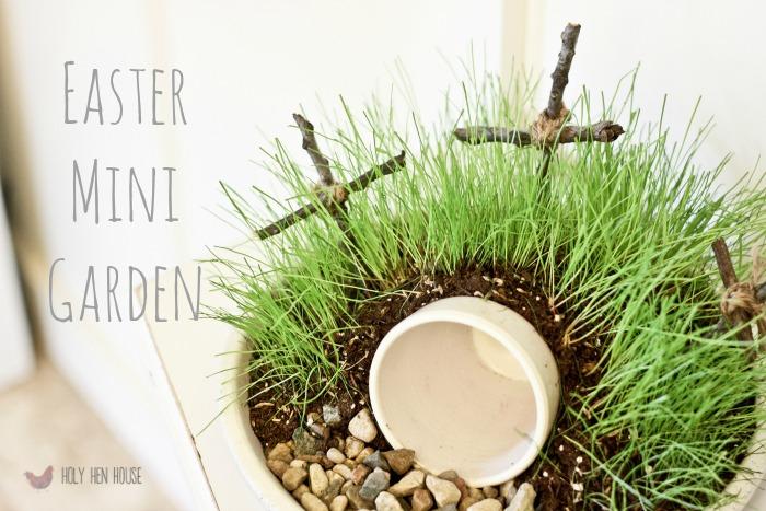 easter mini garden hhh