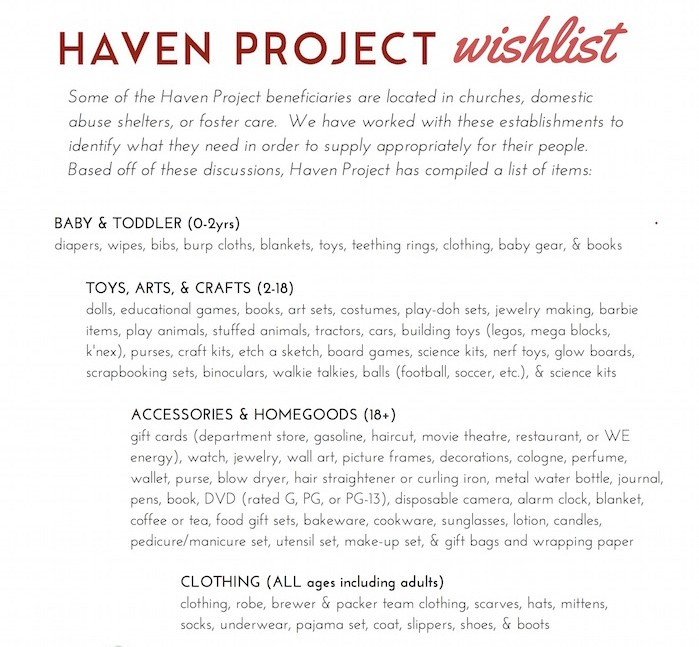 HavenProjectWishlist