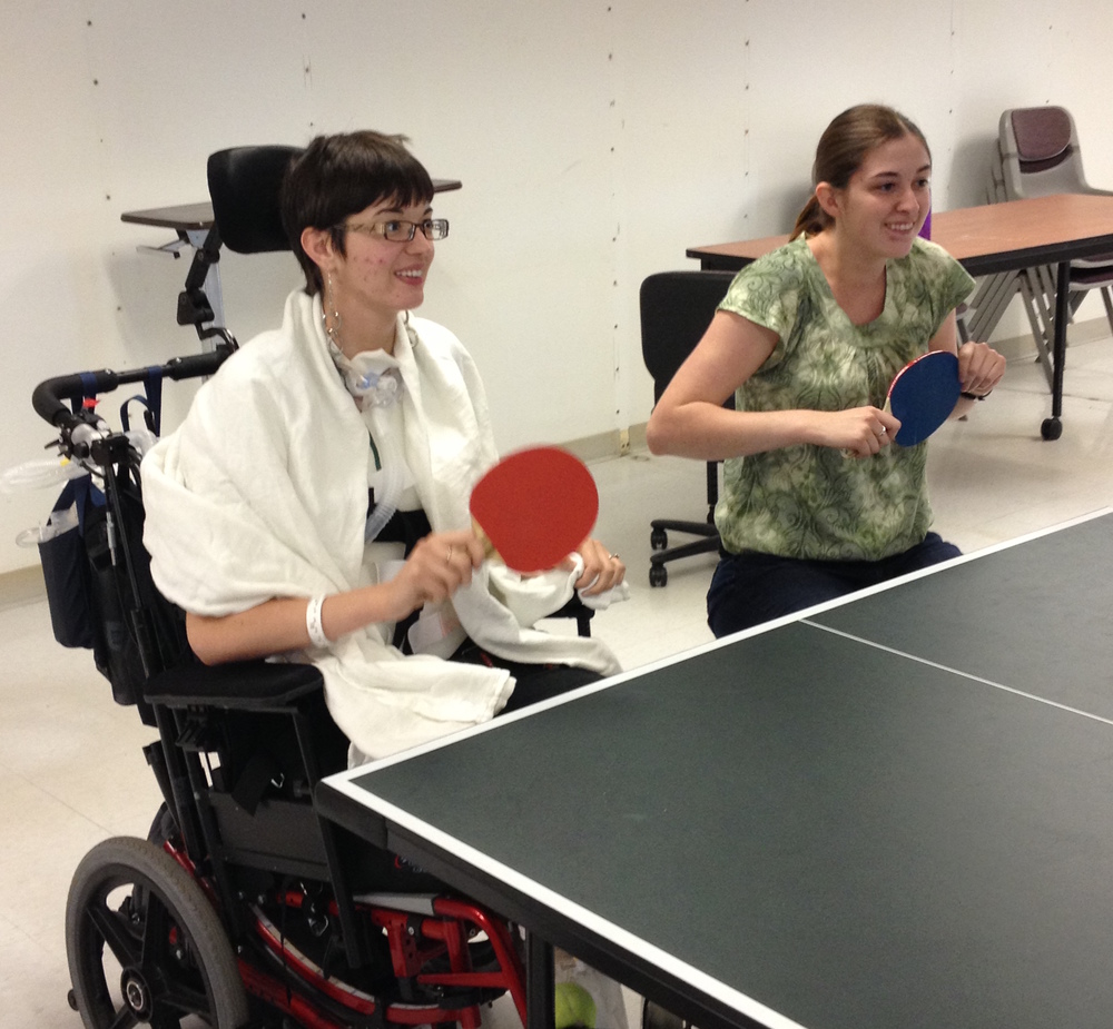 I should also admit I've never been very good at ping-pong and a month after my injury was no exception...