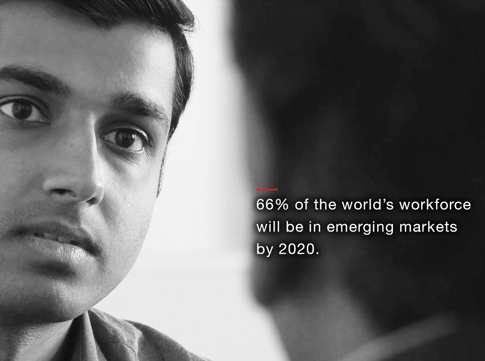 66% of the world's workforce will be in emerging markets by 2020.