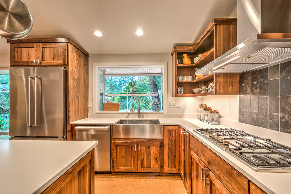 Kitchen Remodel, Stainless Steel Appliances with Walnut Cabinets, VanderBeken, Shoreline.jpg