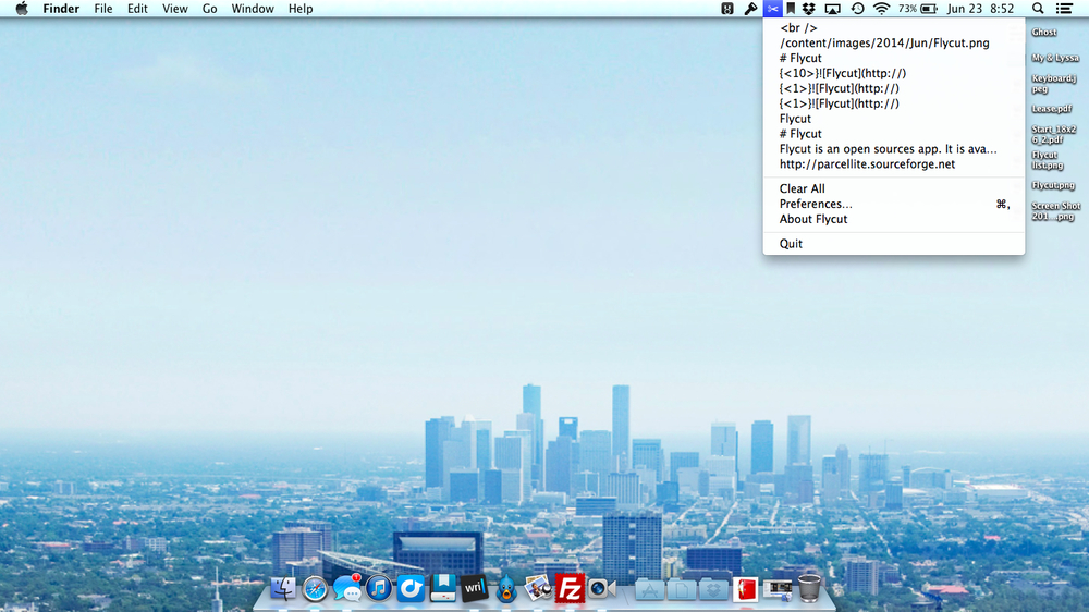Flycut Mac Screenshot