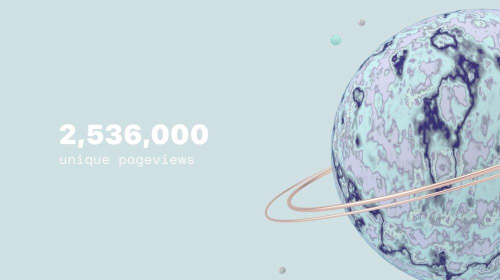 2.5 million unique pageviews