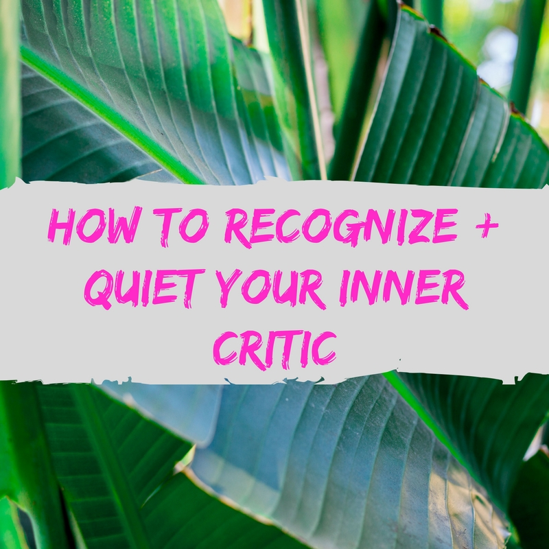 How do you know if it is your inner critic or just healthy self-awareness?