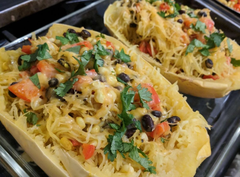Healthy Spaghetti Squash Burrito Bowl Recipe