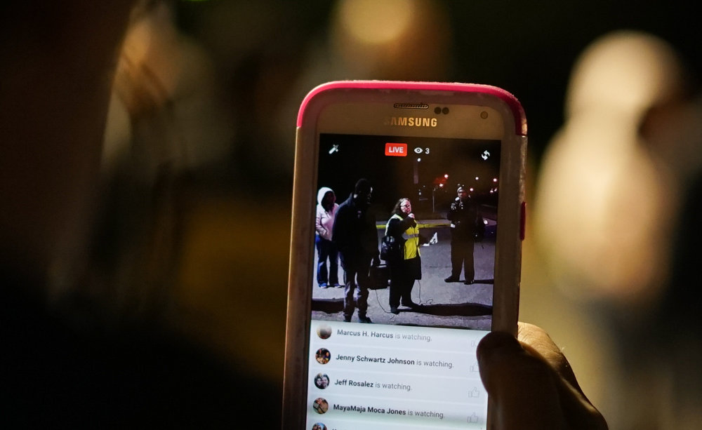 Some onlookers streamed the rally through Facebook live or other social media.