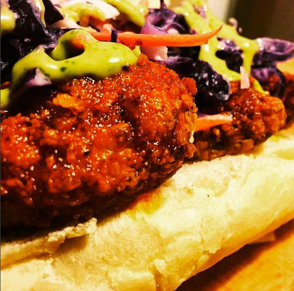 Nashville-style hot chicken sandwich