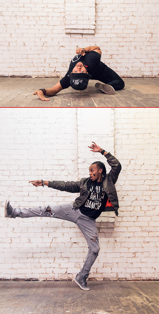 Dancers Roberto Whitaker and JStatic Photo by:  Mia Artz Photography