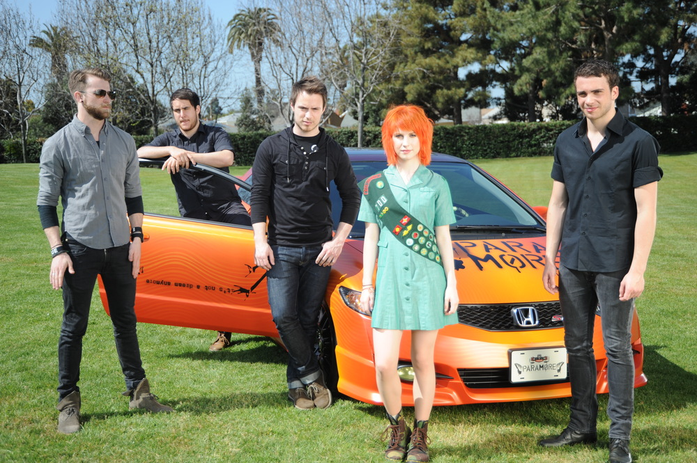 Paramore with car.jpg