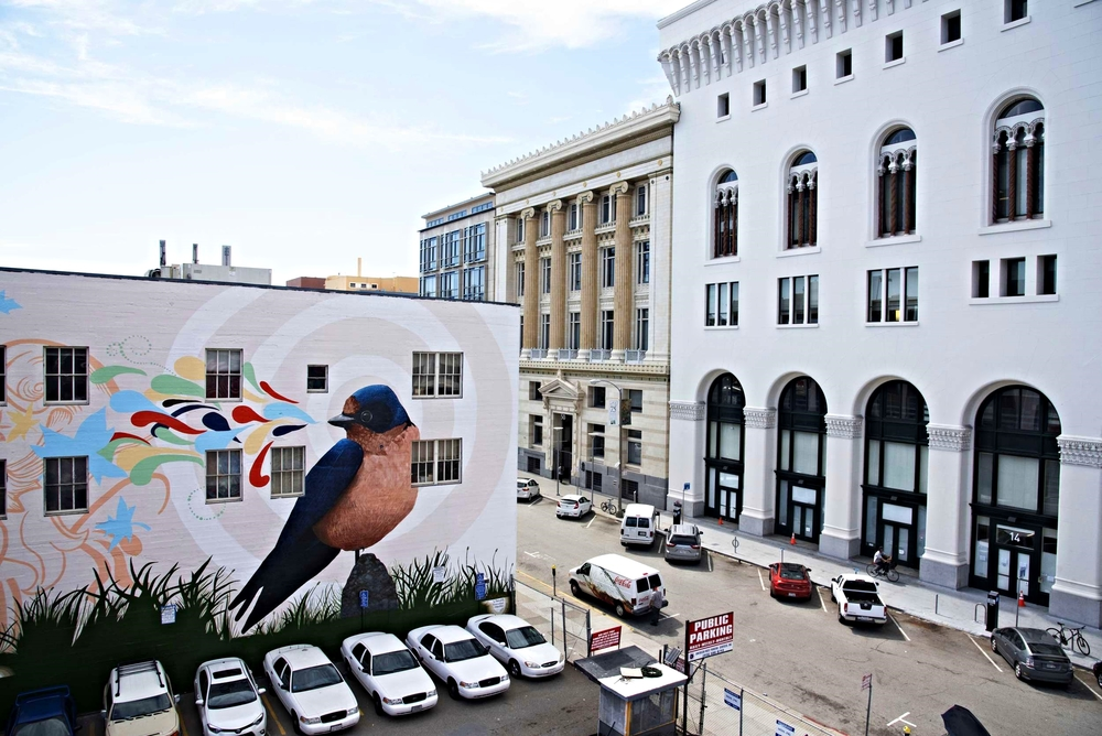 Bird Mural @ One Oak, San Francisco