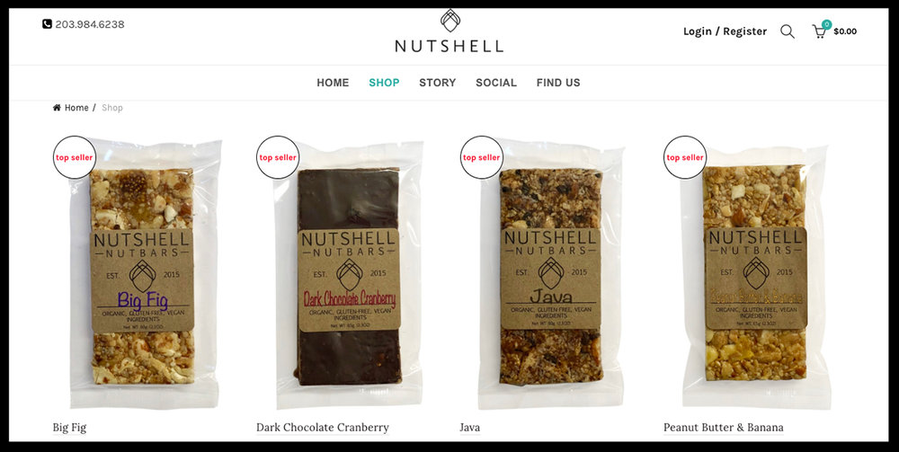 Nutshell Co - Redesign and Conversion to WordpressCustom Subscription Shopping Option Ongoing SEO and Optimization