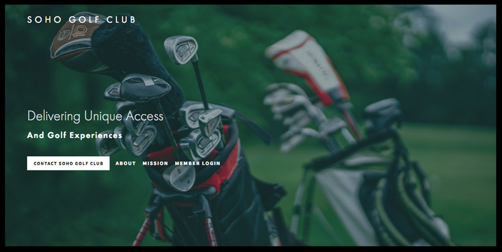 Soho Golf Club - Custom Squarespace BuildIntegrated Membership and DashboardFull Service Management Client