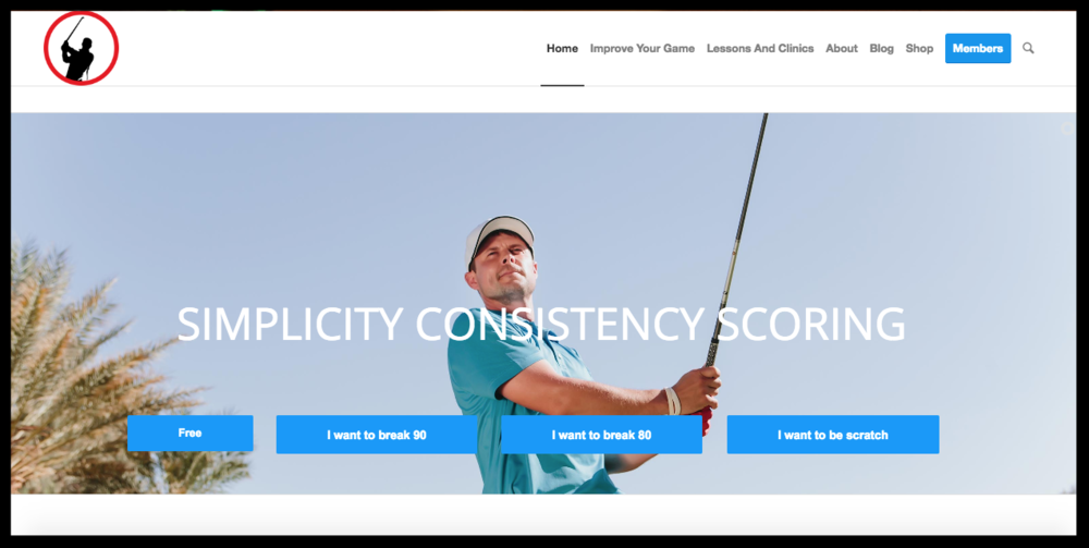 Sam Goulden Golf - Full Redesign based on ConversionCustom Members' Side for Course AccessFull Straegy Partner for Social and Outreach