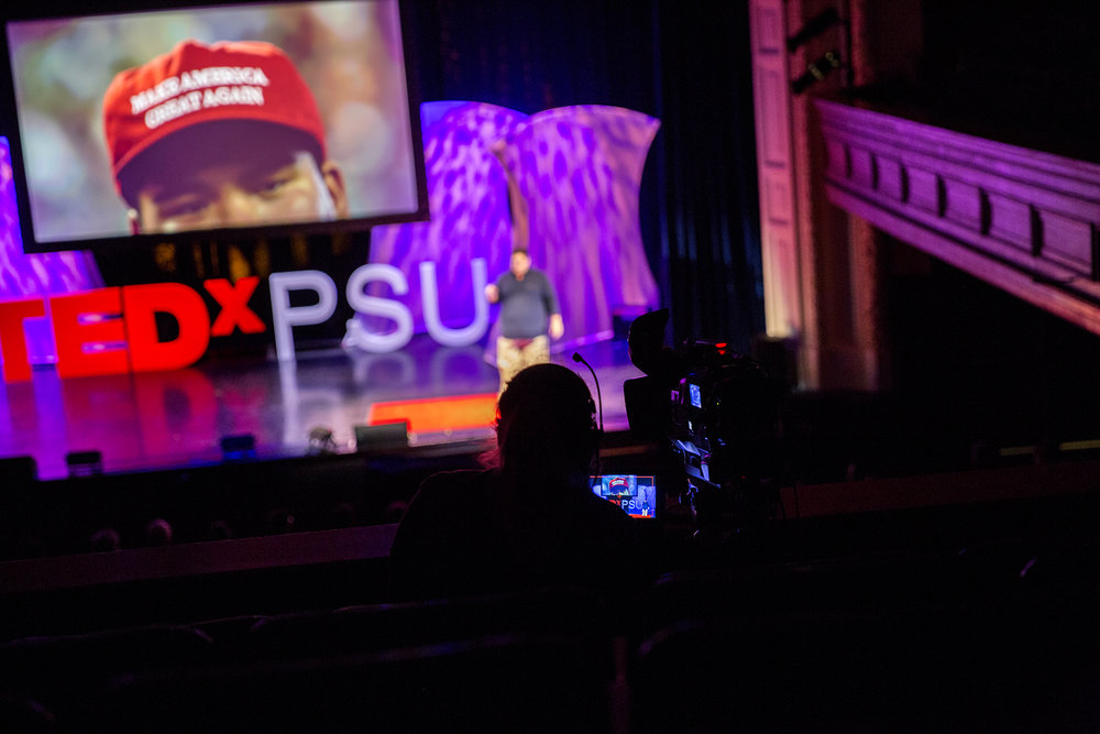 The TEDxPSU event was live streamed from the Schwab Auditorium on Penn State's main campus on February 12, 2017.