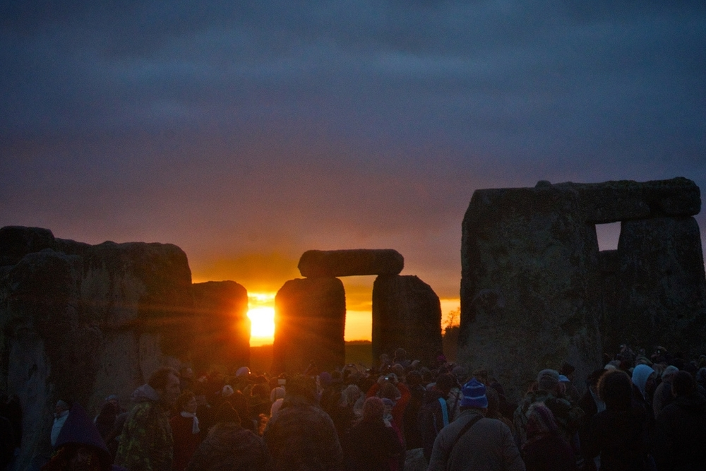 Summer solstice at Stonehenge; photo by Bill via Flickr.