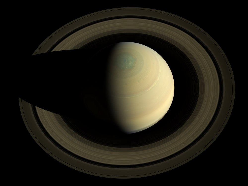 A swing high above Saturn by NASA's Cassini spacecraft; photo by NASA/JPL-Caltech/SSI/Cornell, via Wikimedia Commons