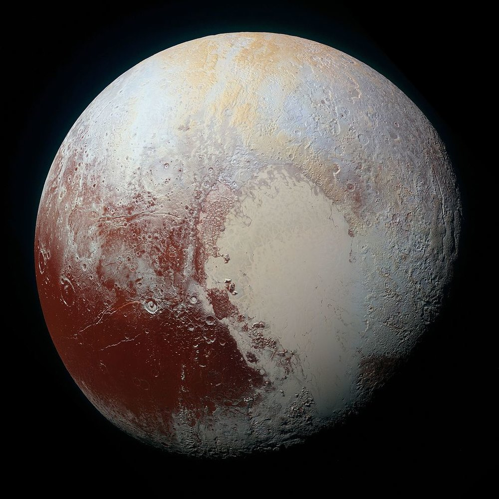 A high resolution photo of Pluto captured by NASA's New Horizons Spacecraft on July 14, 2015; NASA/John Hopkins Applied Physics Labratory/Southwest Research Institute.