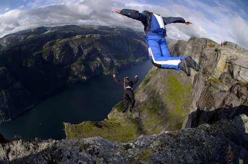 Base jumpers; photo by  Xof711