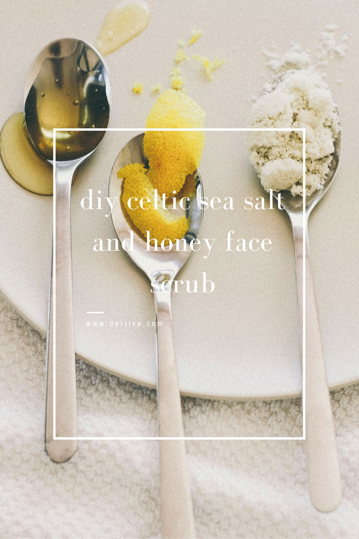 diy celtic sea salt and honey face scrub