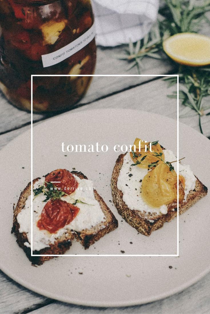 tomato confit recipe www.derrive.com