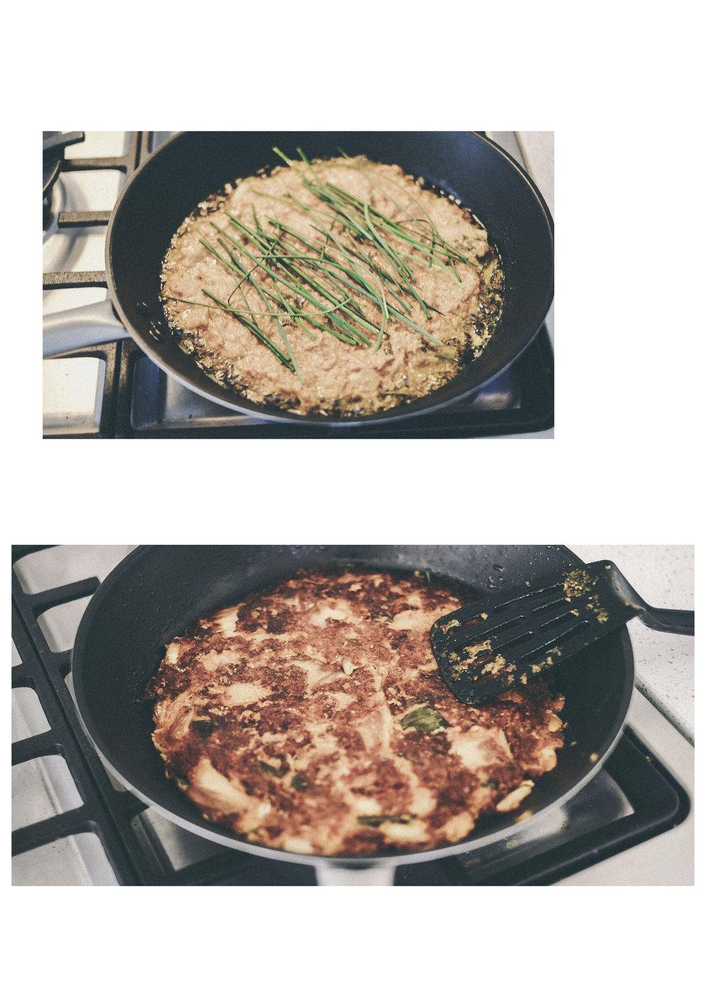 oat flour kimchi pancake (gf and vegetarian) www.derrive.com