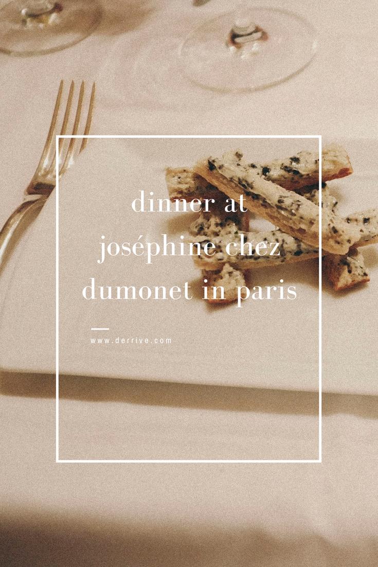 dérrive food and travel - dinner at joséphine chez dumonet in paris www.derrive.com