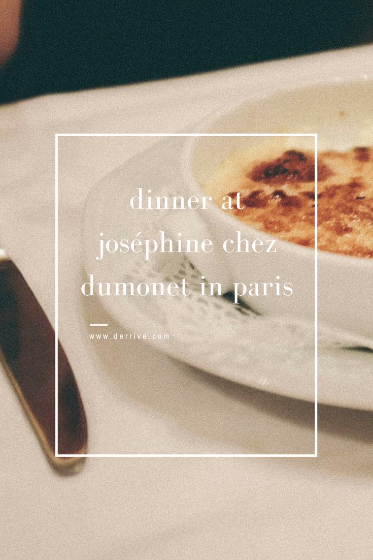 dinner at joséphine chez dumonet in paris