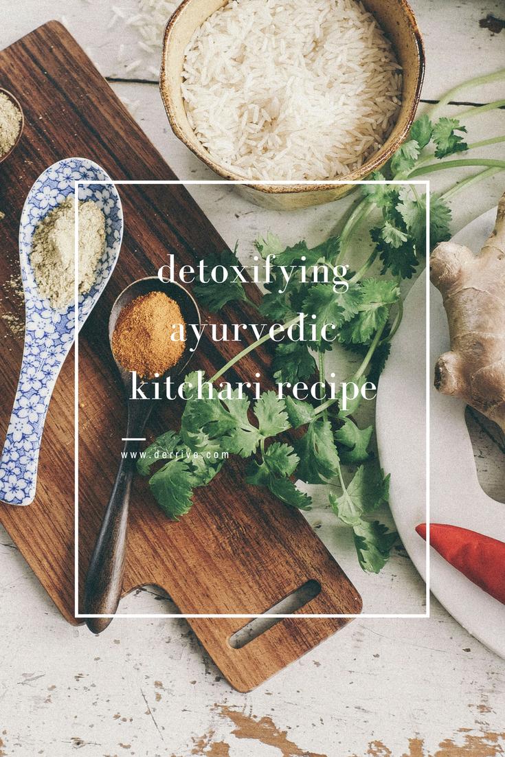 dérrive recipe - detoxifying ayurvedic kitchari www.derrive.com