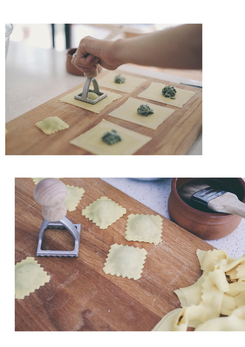 dérrive recipe - the most delicate chestnut, spinach and ricotta ravioli www.derrive.com