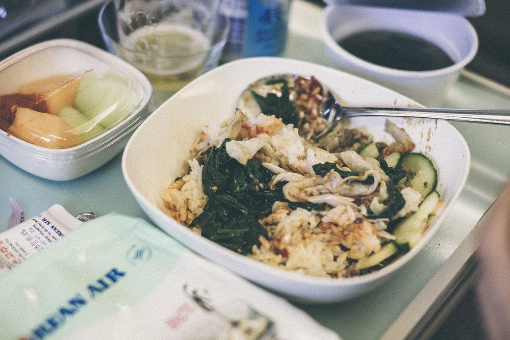 dérrive travel - bibimbap on korean air #bibimbap #koreanair #travel #koreanfood