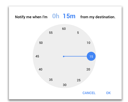 Google Time Picker