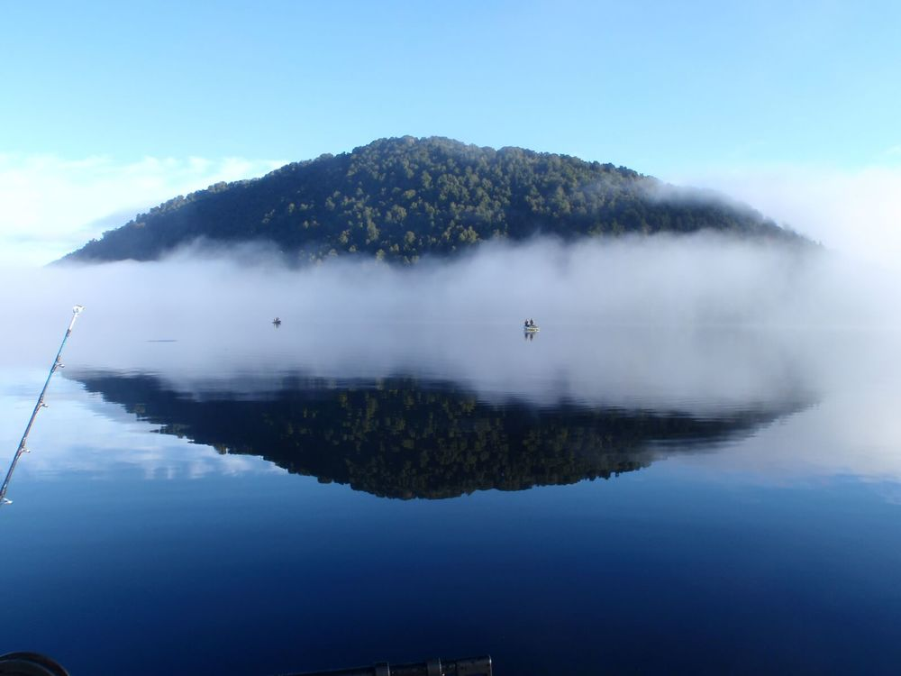 Lifting fog Lake Paringa By Brian Richards.JPG